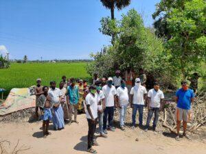 Ragunath während seiner Arbeit mit Wanderarbeiter