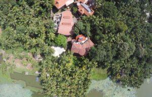 Der kanthari Campus von oben