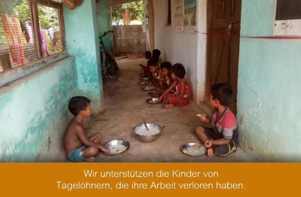 Wir unterstützen die Kinder von Tagelöhnern, die ihre Arbeit verloren haben